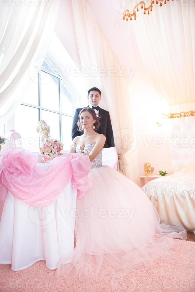 attractive couple portraits photo
