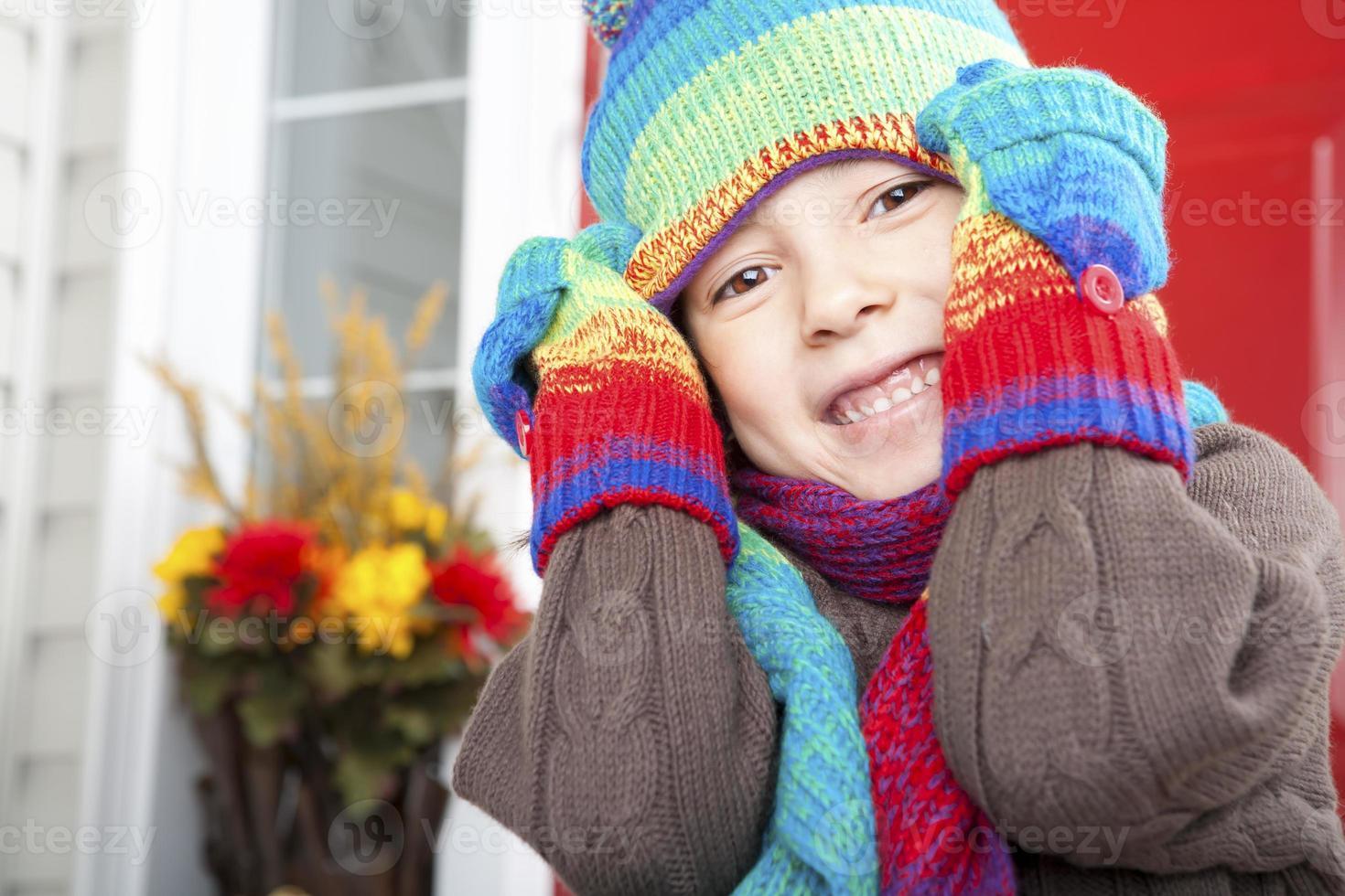 retrato de otoño niña foto