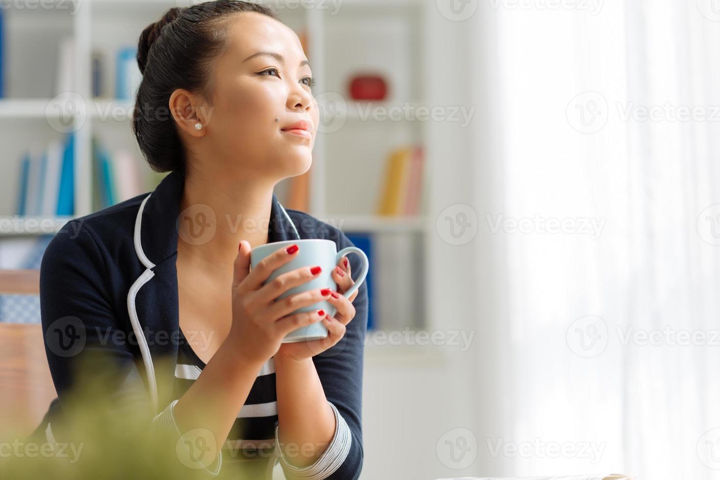 Enjoying coffee photo