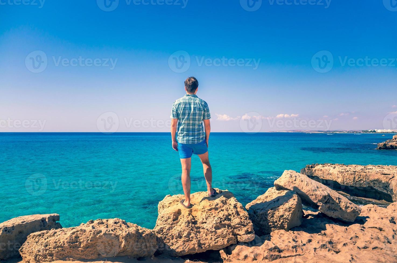 Man outdoors enjoying nature photo