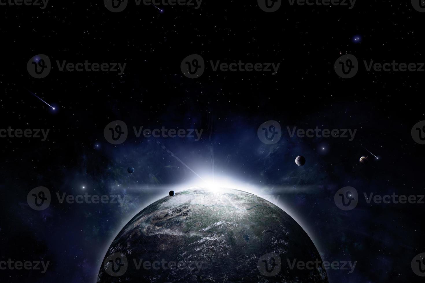 planeta espacio eclipse fondo foto