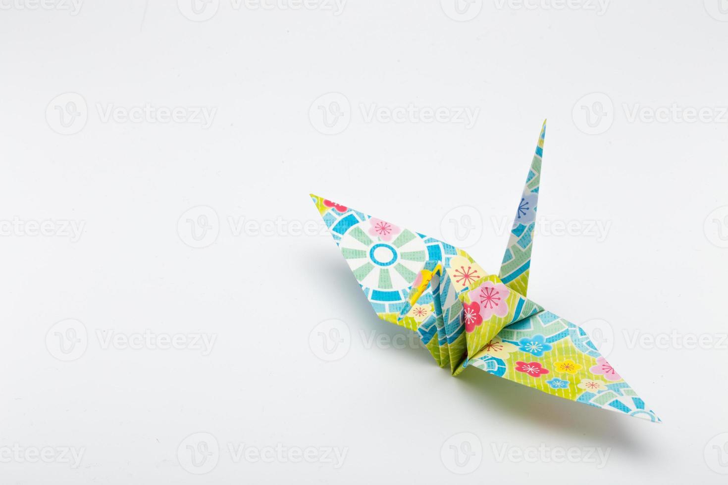grullas de papel (1 ave) foto
