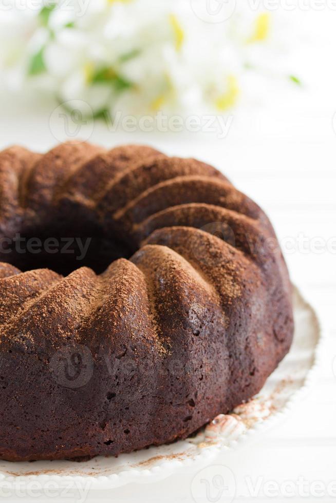 pastel de chocolate foto