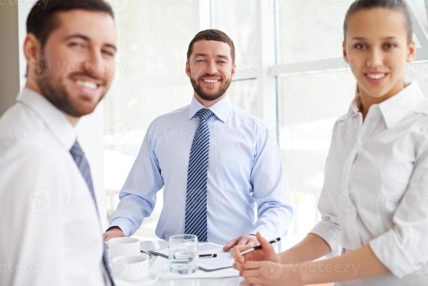 Enjoying business meeting photo