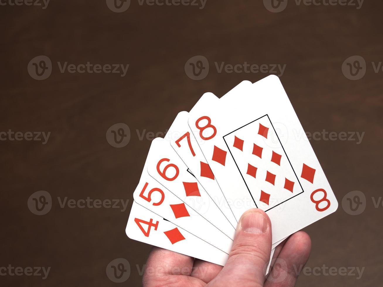 pôquer, straight flush foto