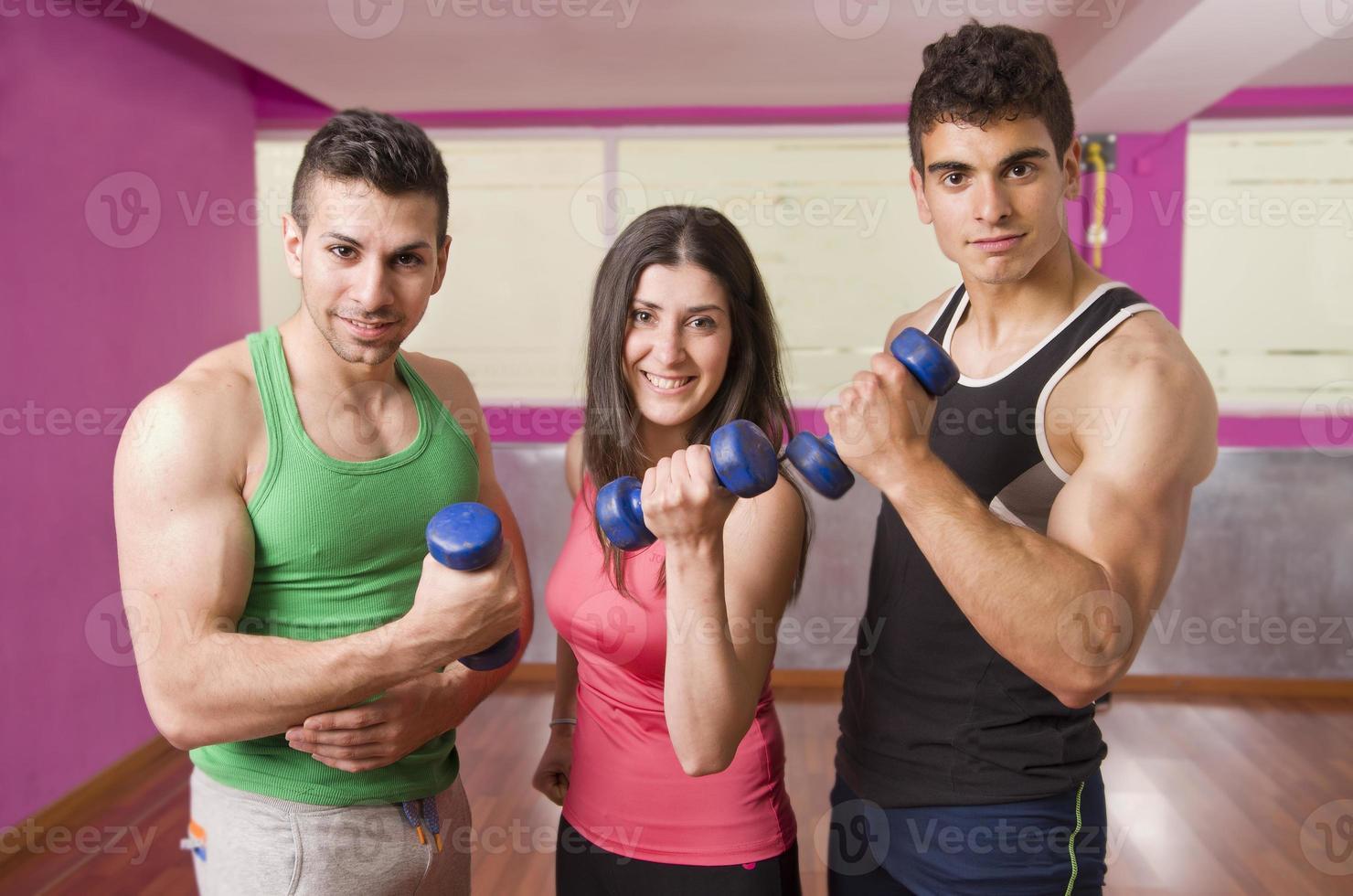 gente de gimnasio foto