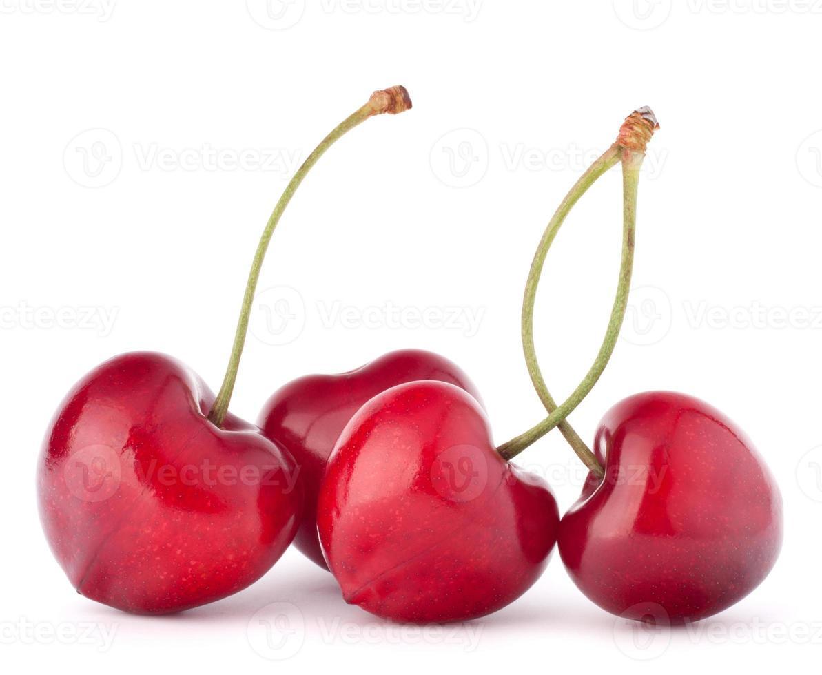 Heart shaped cherry berries photo