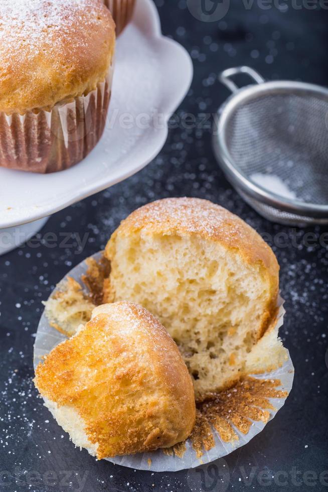 Homemade yeast buns photo