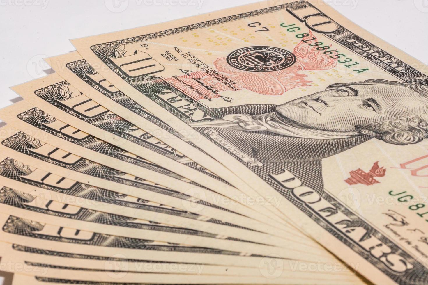billetes de un dólar estadounidense foto