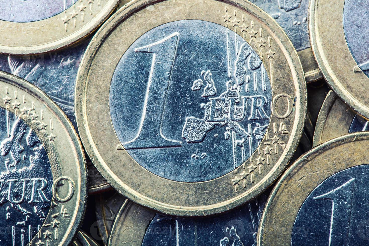 monedas de euro dinero del euro moneda euro. foto