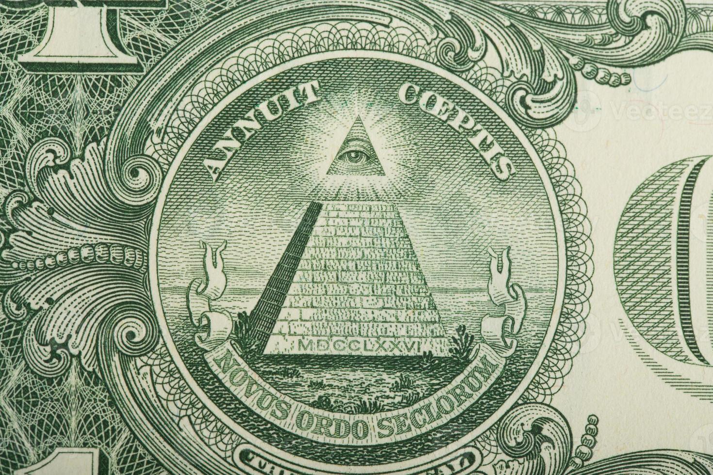 macro of US dollar money banknote photo