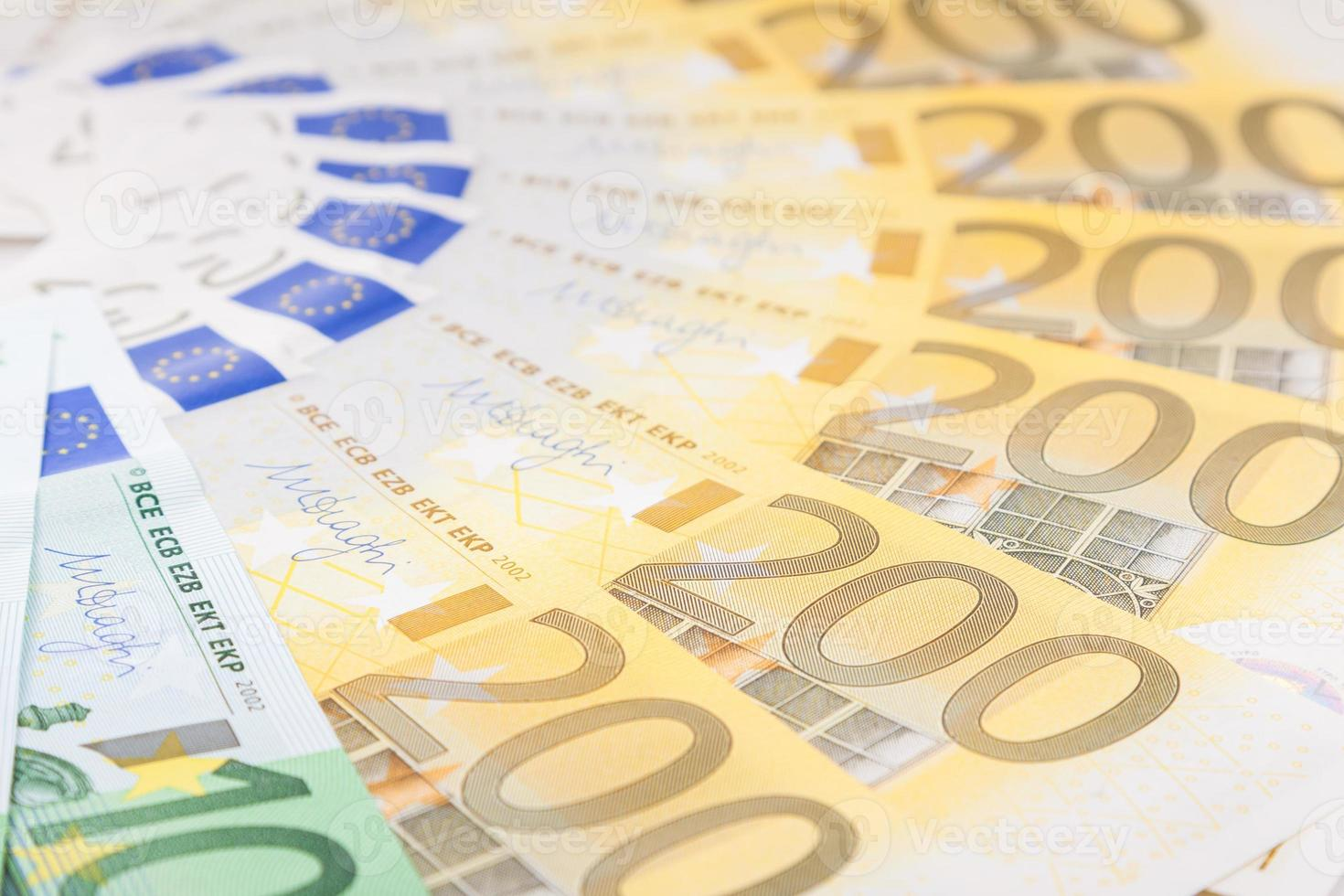 Euro banknotes  spread over the floor - European currency photo
