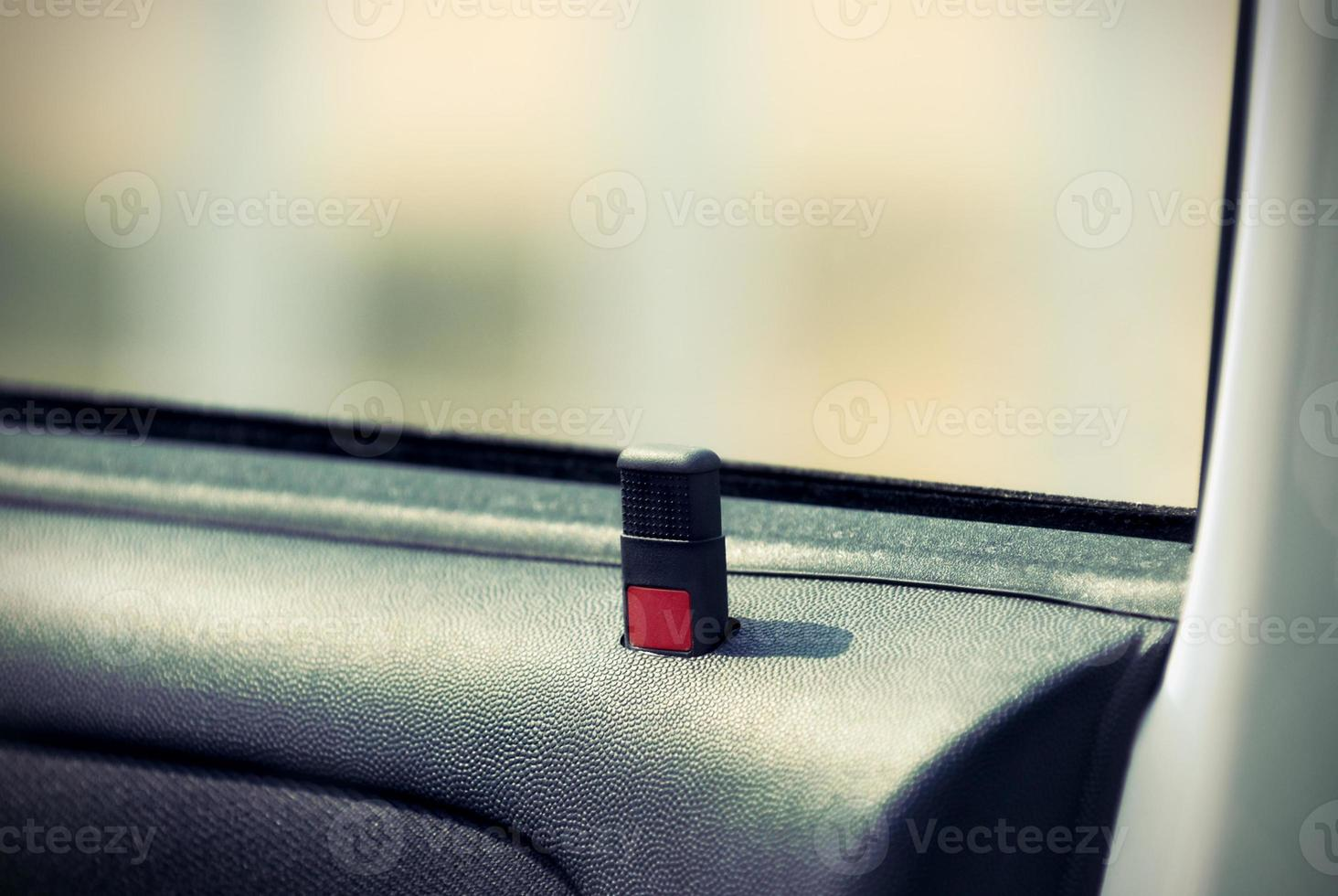 A button showing the car's door is unlocked photo
