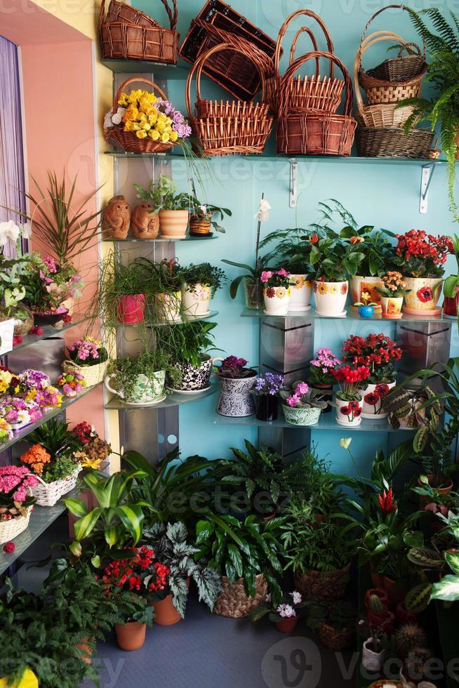 tienda de flores foto