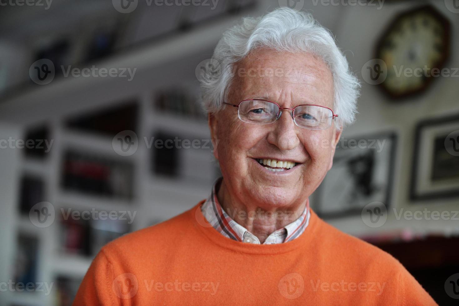 Mature man smiling photo