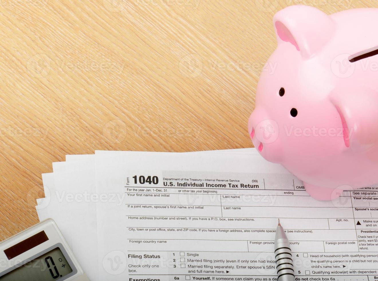 1040 formulario de impuestos de EE. UU. foto