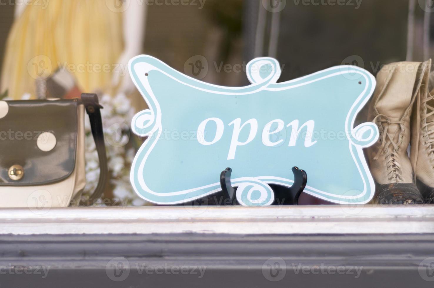 Open sign in Window photo