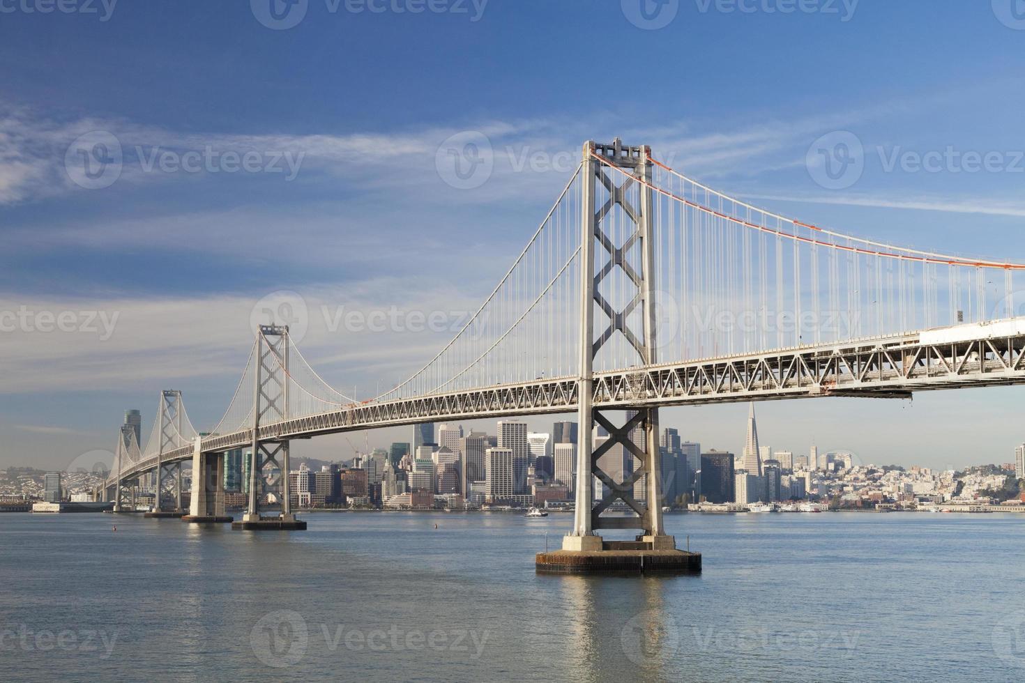 San Francisco and Bay bridge photo