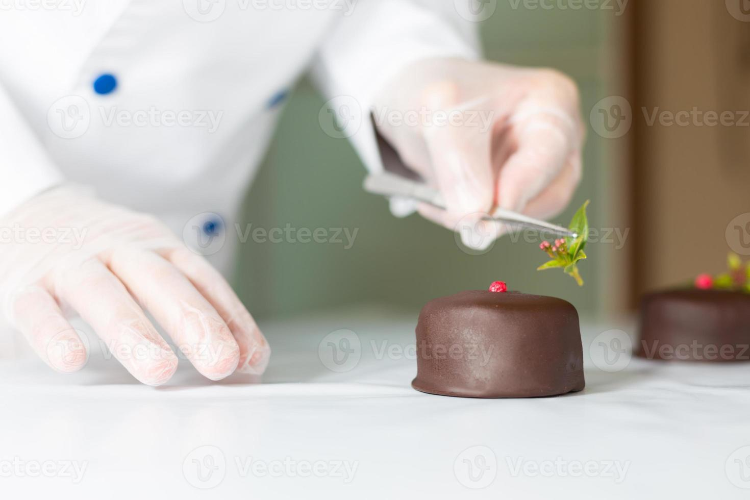 Pastry with a cake photo
