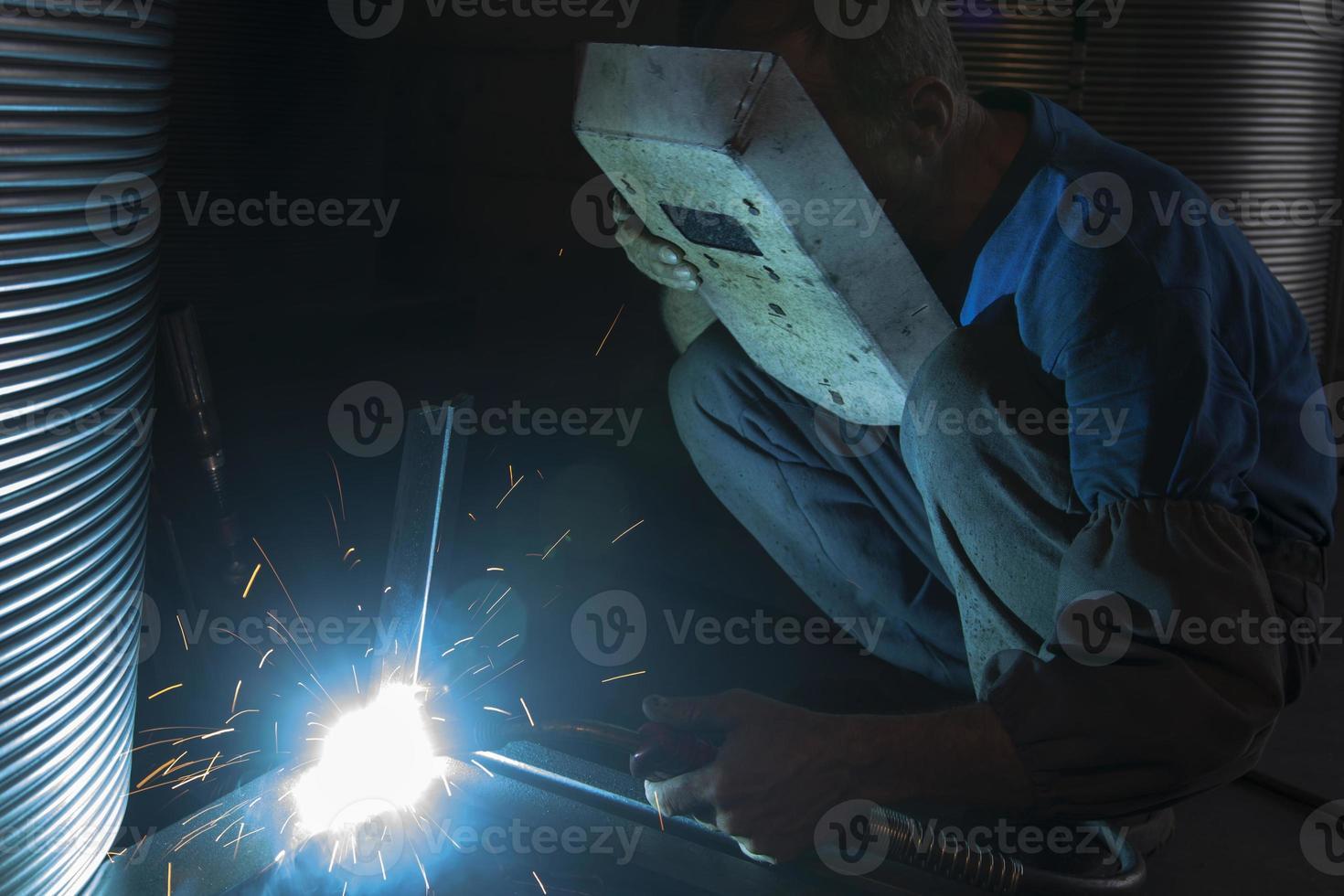Welding sparks photo