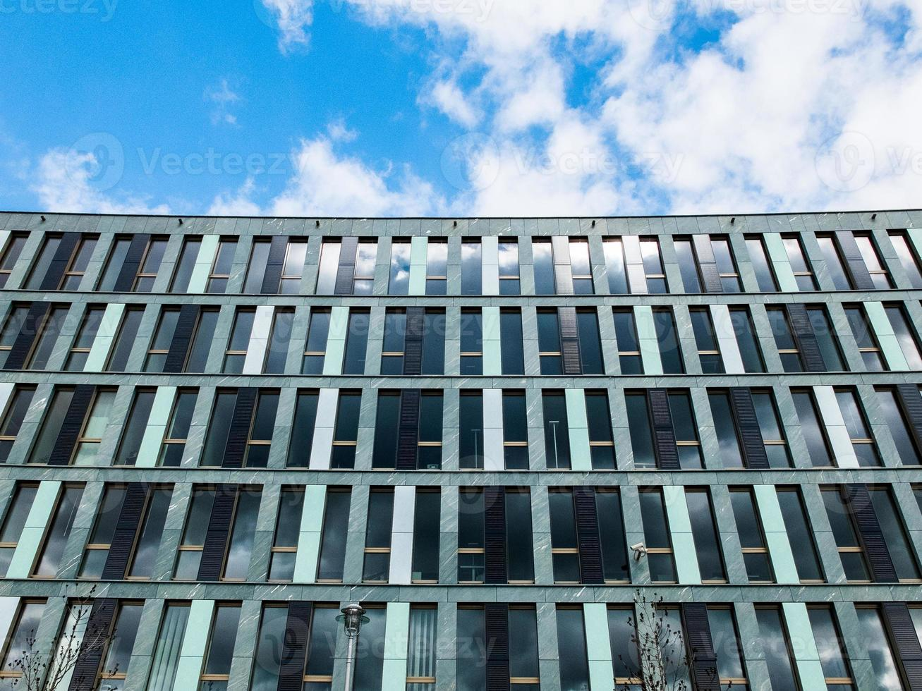 finance building with blue sky photo