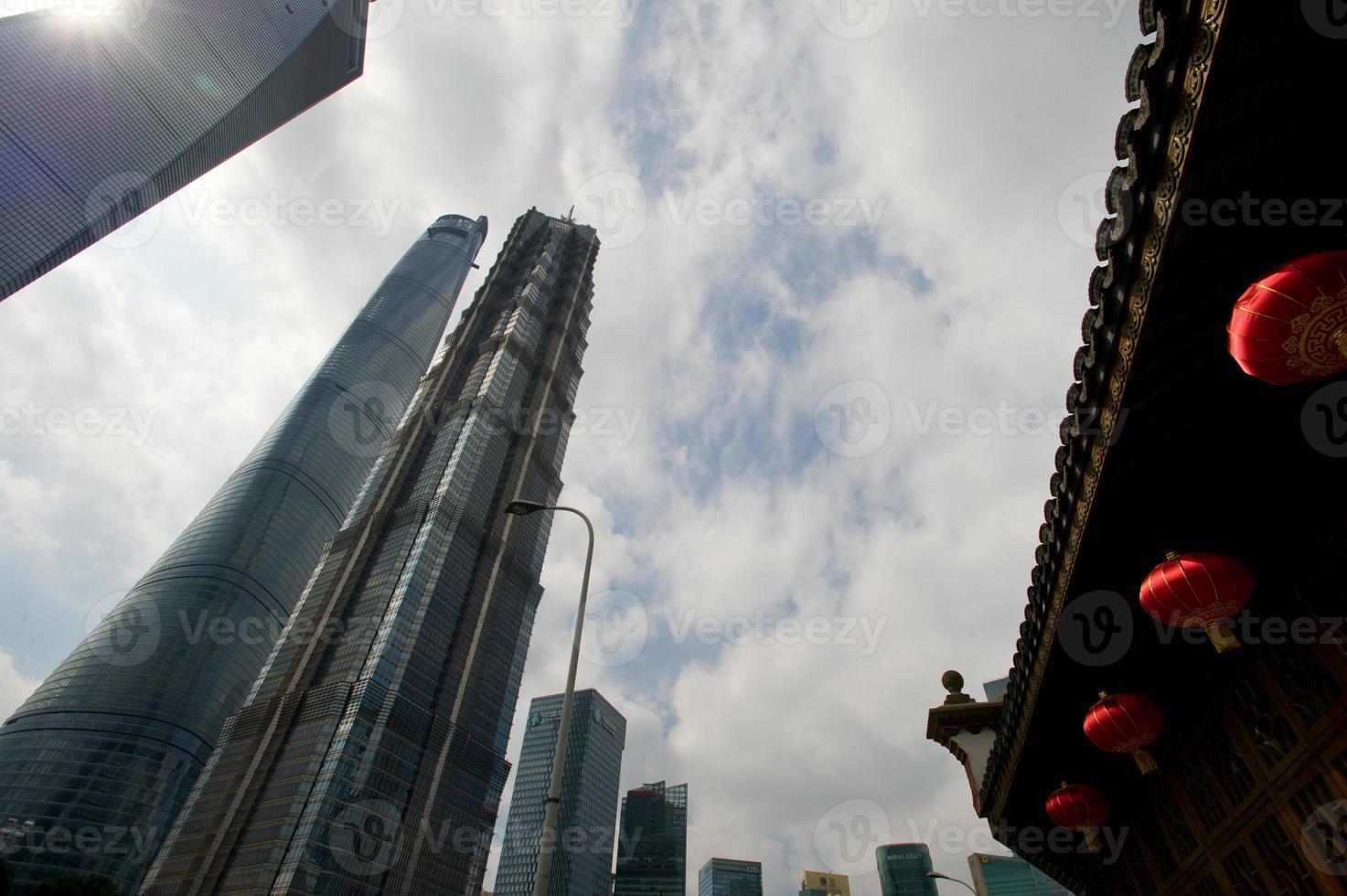 Shangai Lujiazui zona financiera y comercial de la ciudad moderna foto