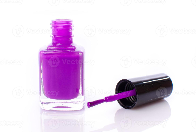 Purple nail polish photo