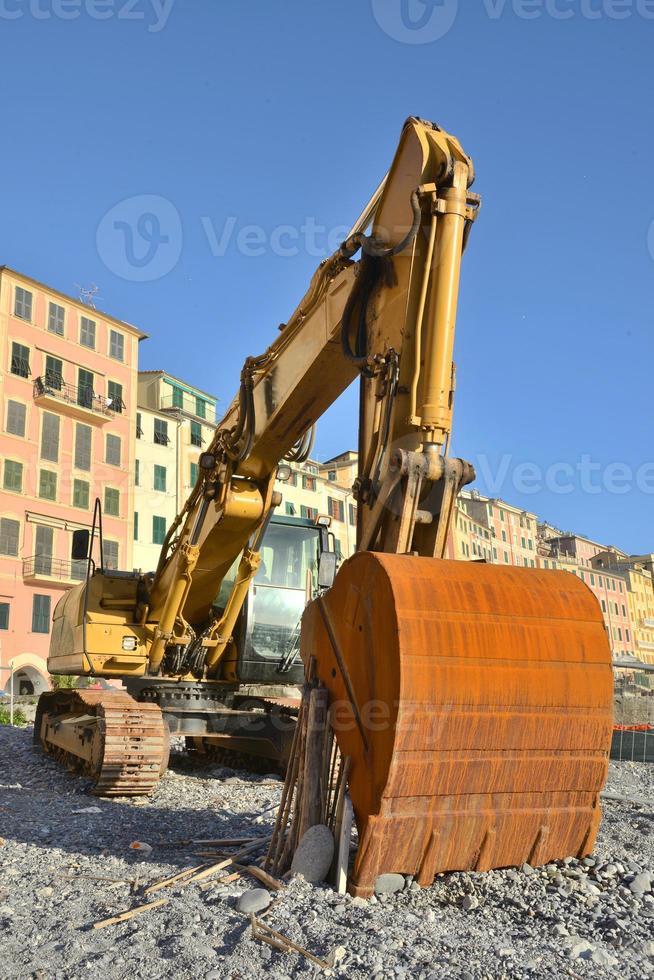 excavadora amarilla foto