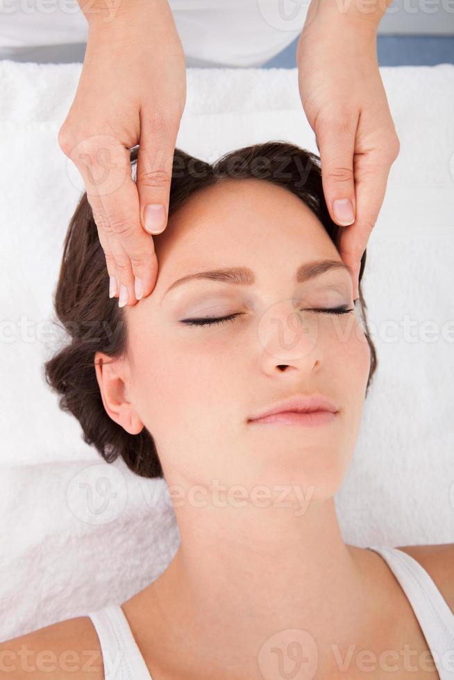 Woman Getting Massage Treatment photo