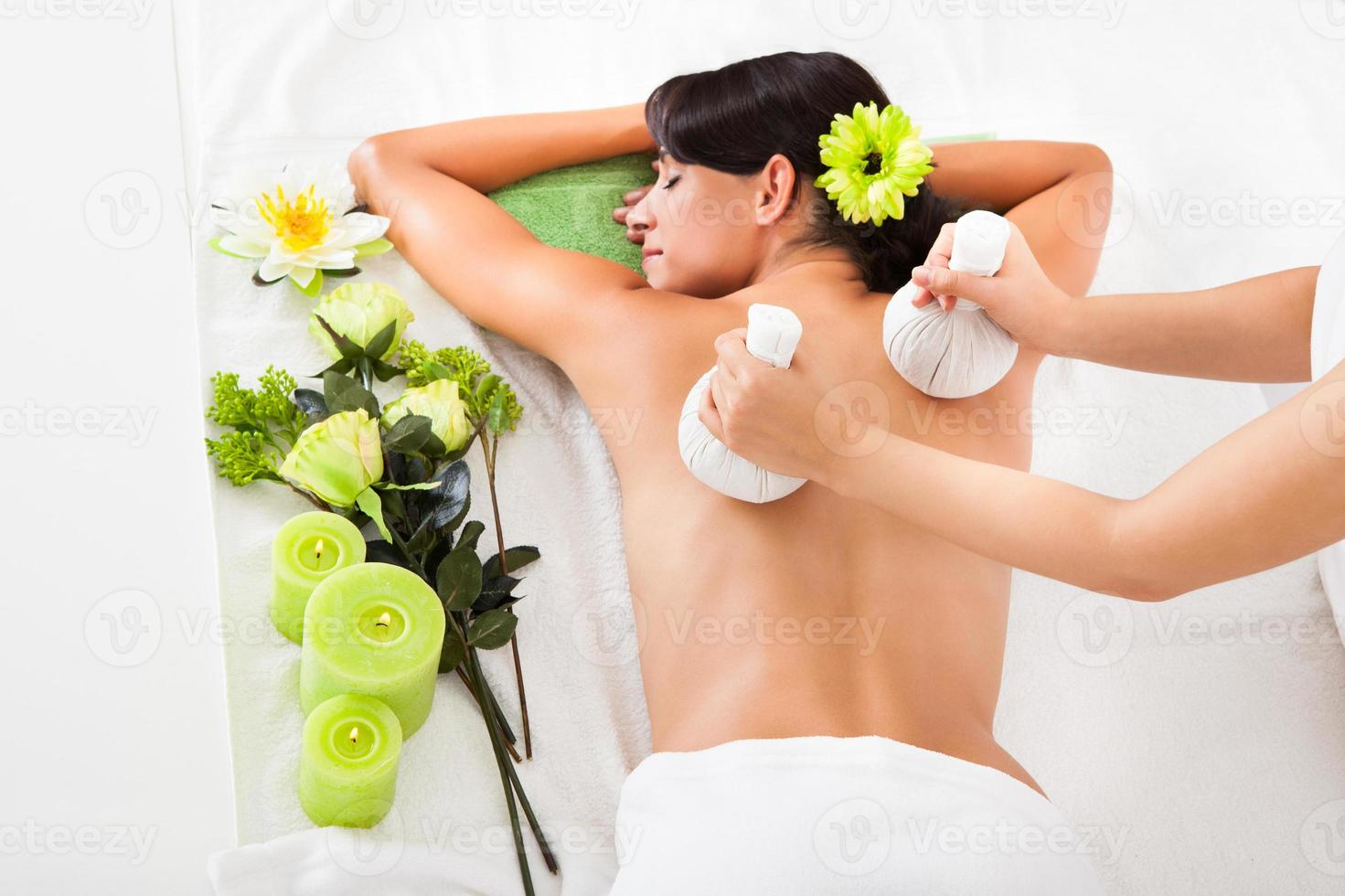 Young Woman In Spa photo