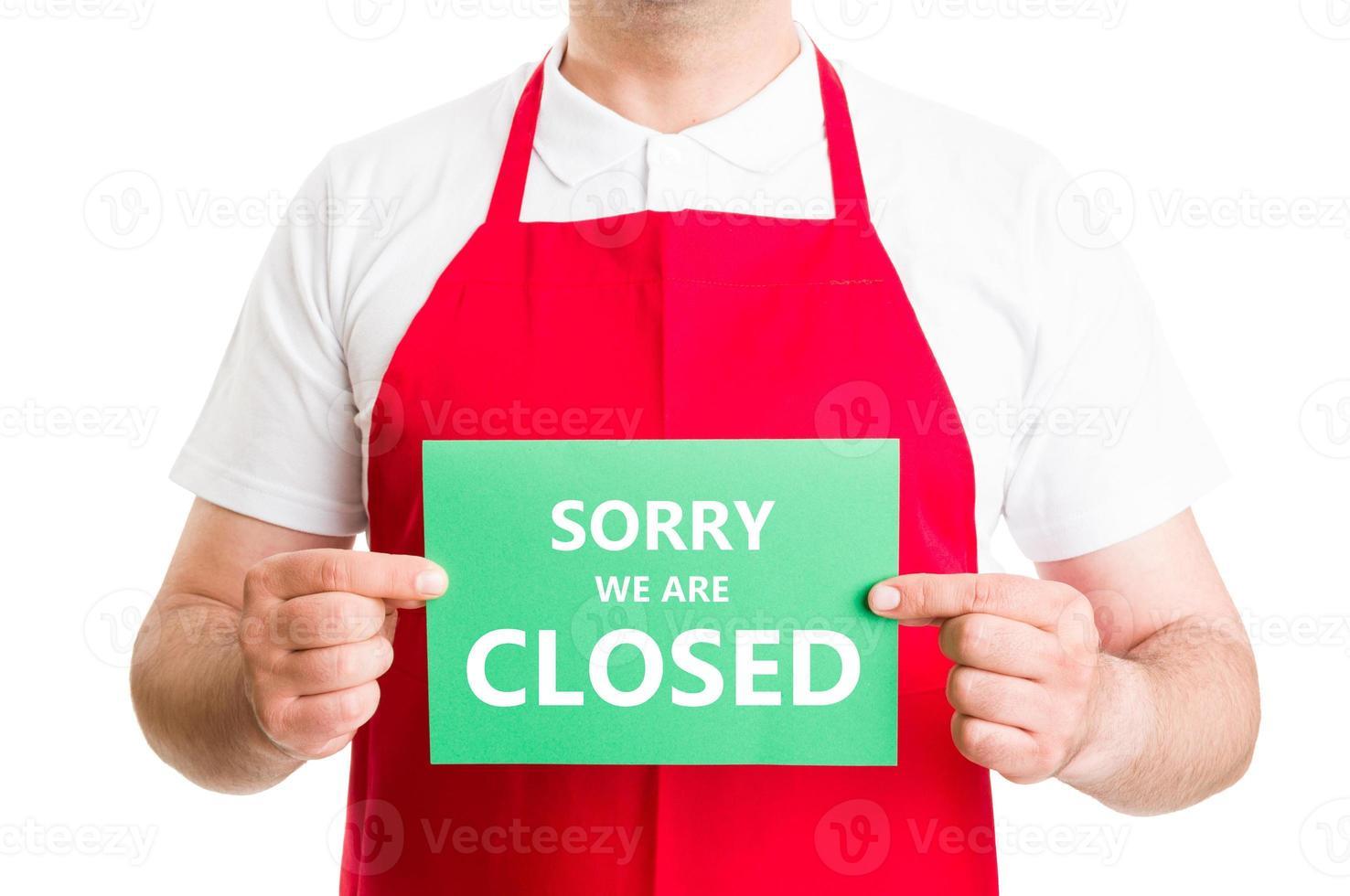 Lo siento, ya está cerrado foto