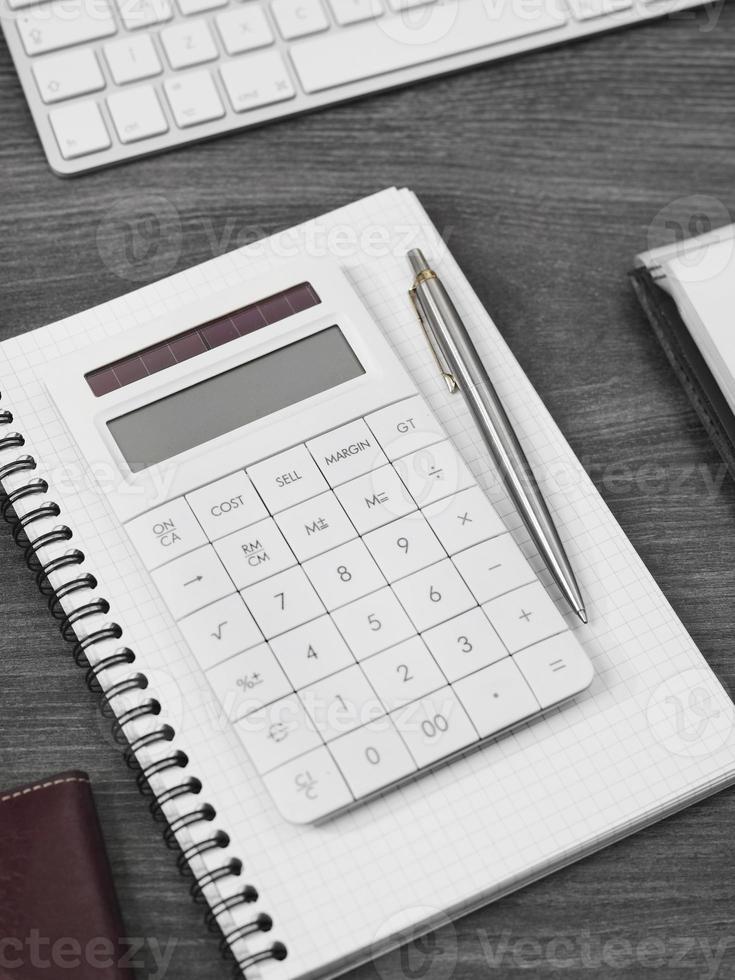 Calculator on a office desk photo
