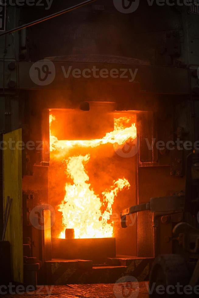 Hot iron in smeltery photo