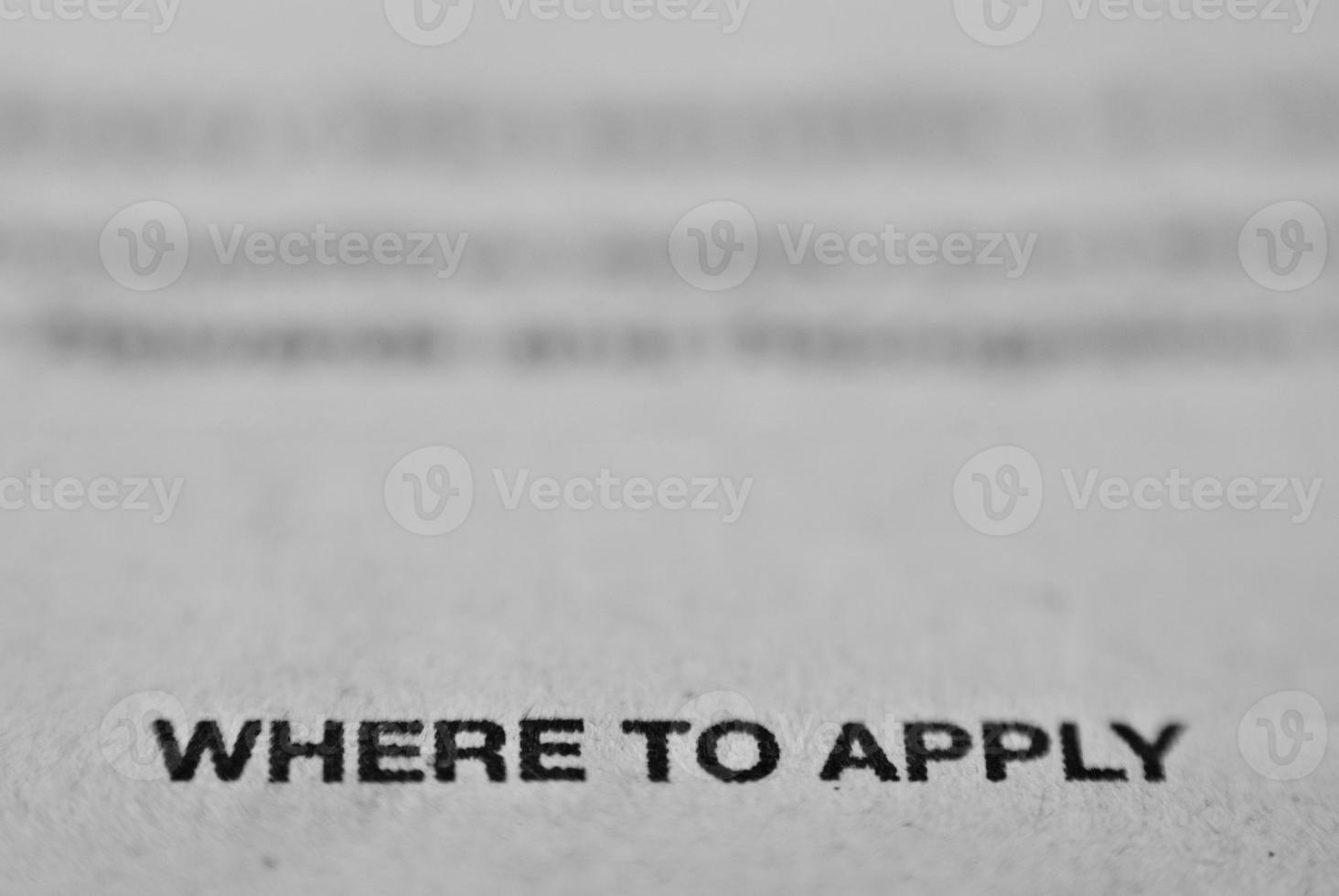 Newspaper Job Application Advertisement photo