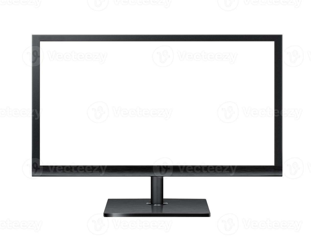 Computer monitor isolated on white photo