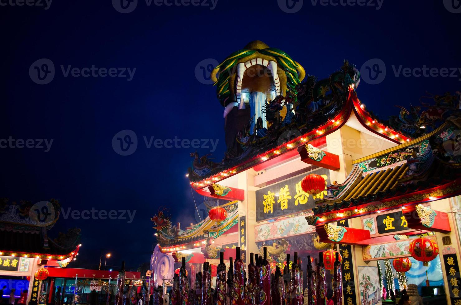 chines temple in thailand photo