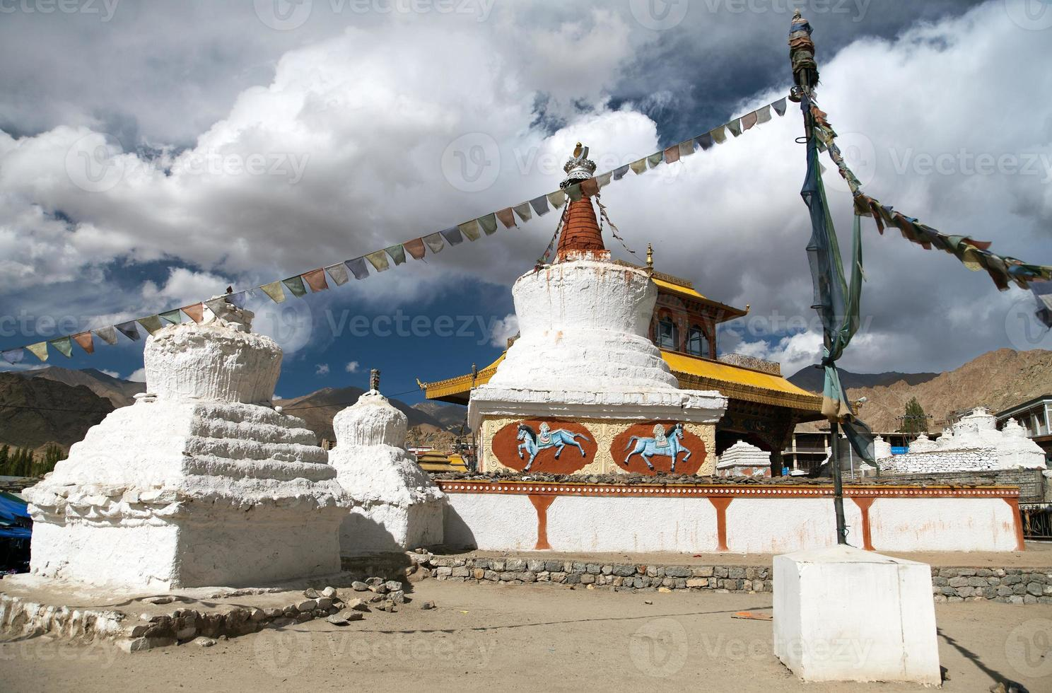 Stupas and Friendship Gate in Leh photo
