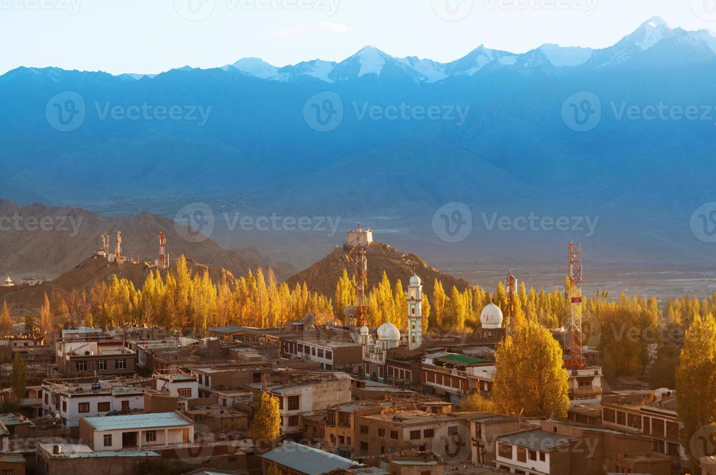 Leh city Ladakh Northern India photo