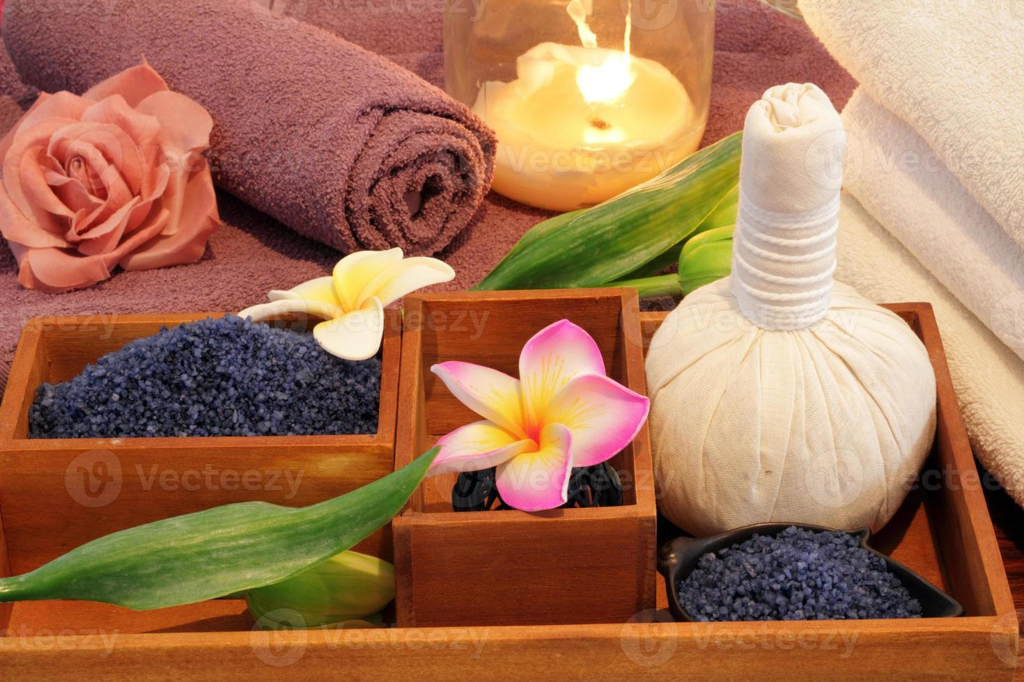spa treatment still life with candle photo