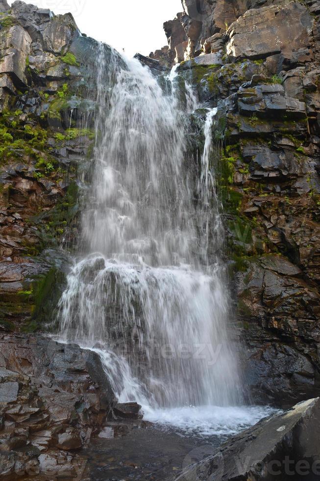 Waterfall on the Putorana plateau. photo