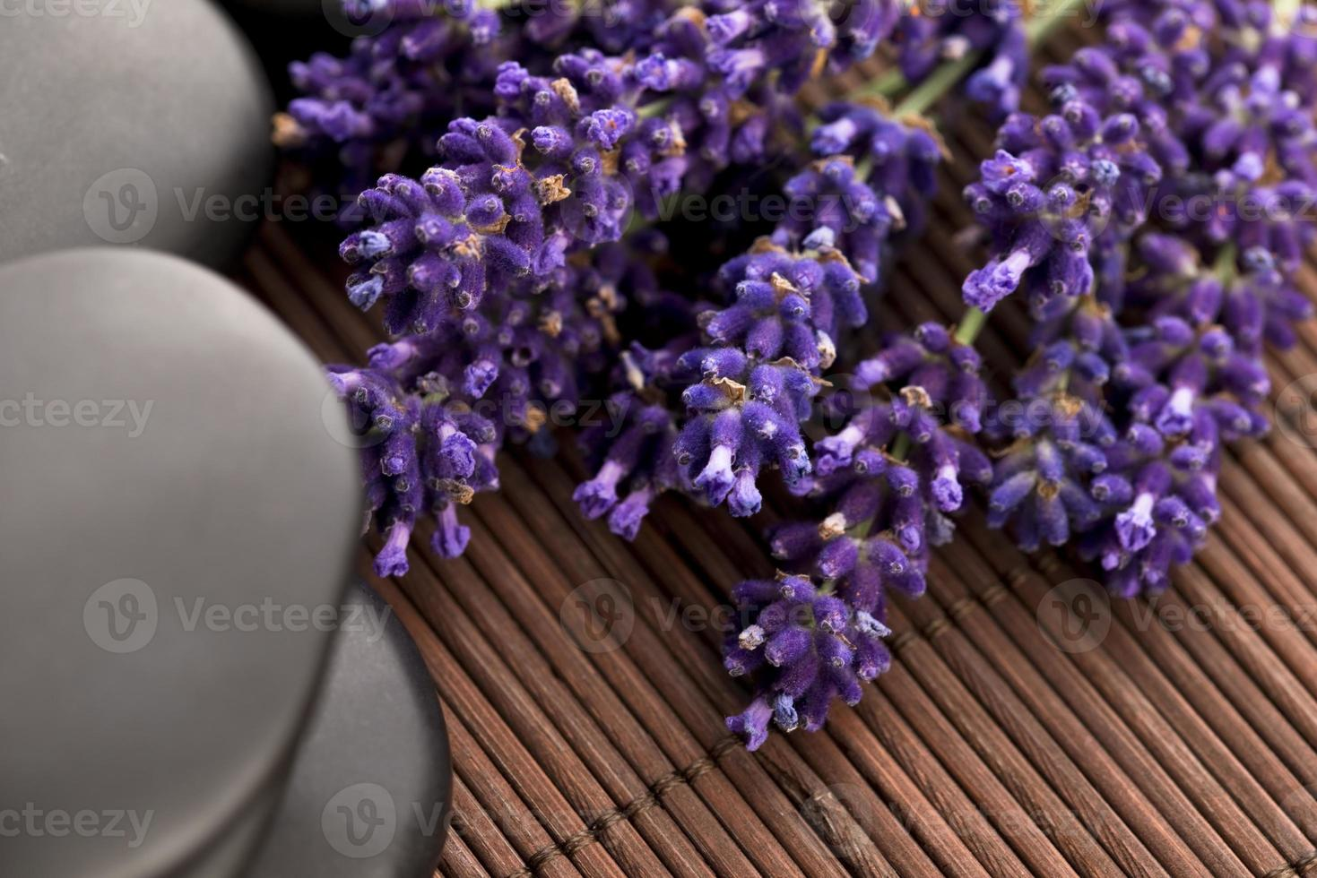 Lavender and massage stones photo