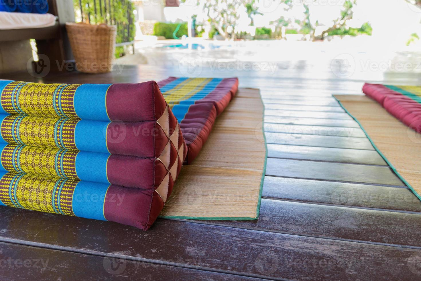 thailand traditional mattress for spa massage photo