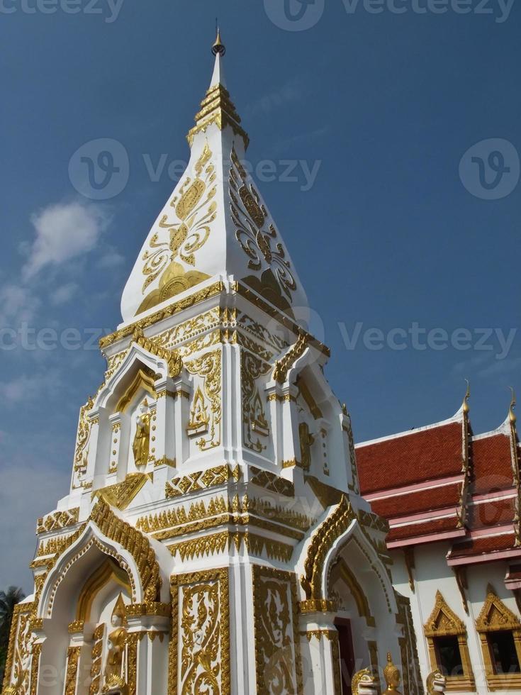 Phra que prasit pagoda en Nakhon Phanom, Tailandia foto