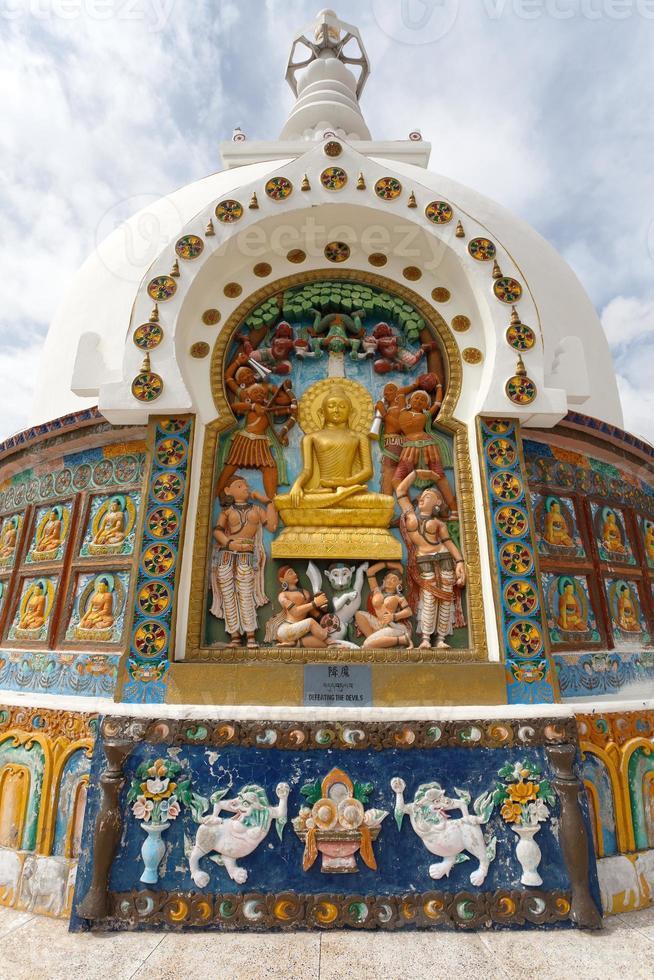 Detail of Tall Shanti Stupa near Leh photo