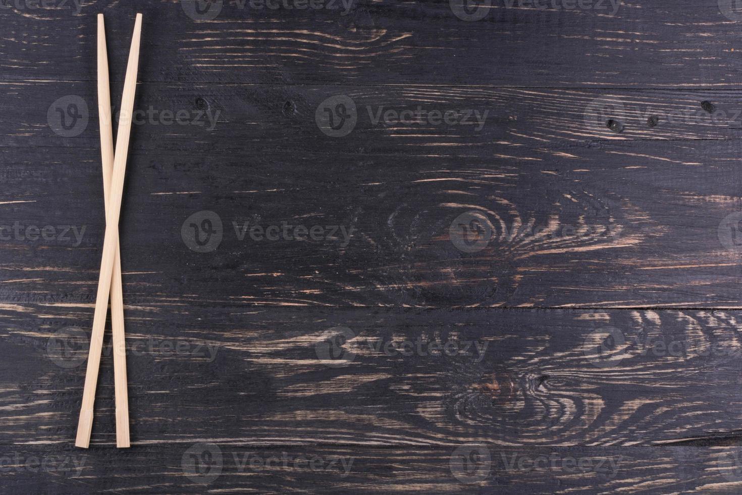 Wooden chopsticks photo