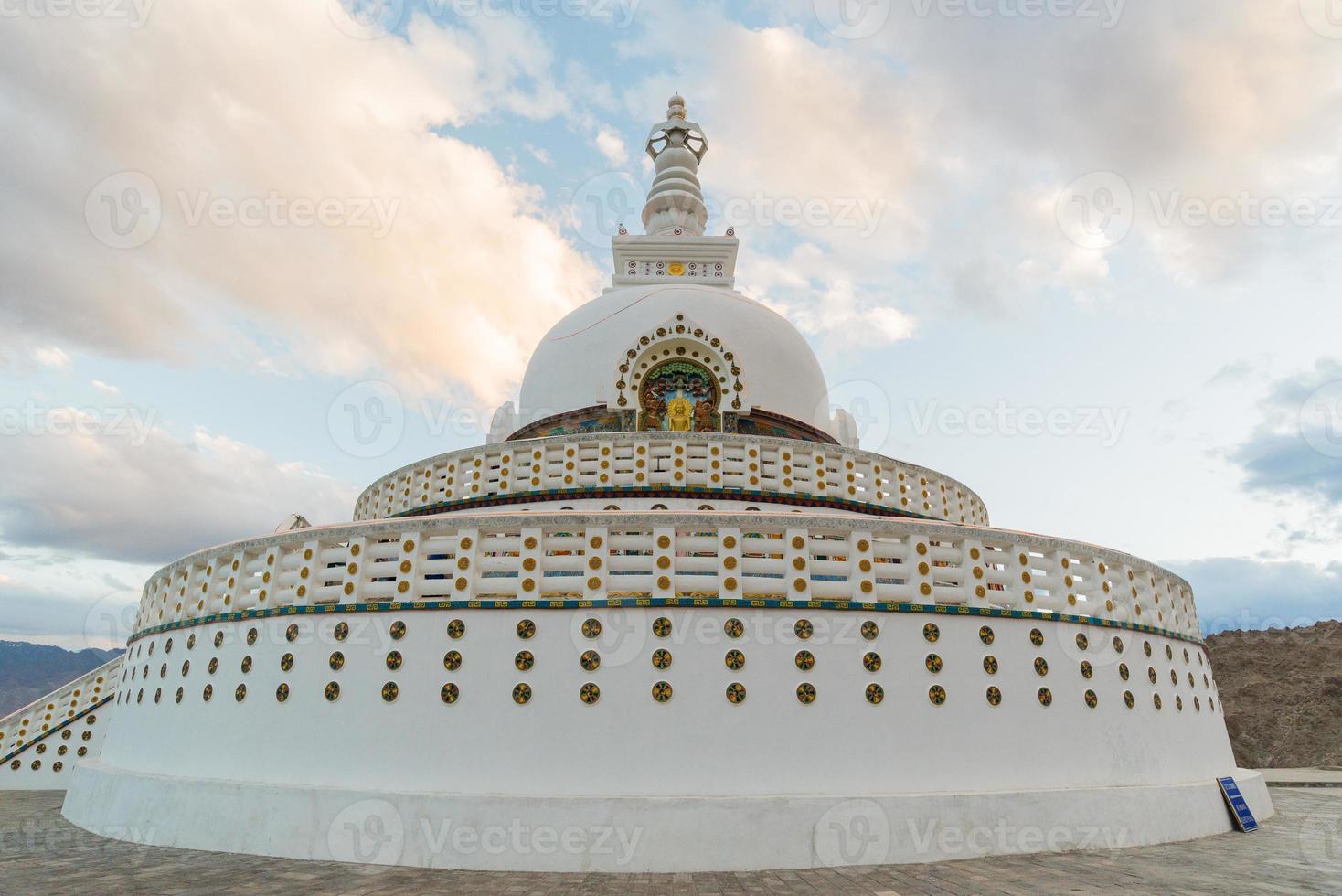 Shanti Stupa,Leh Ladakh. photo