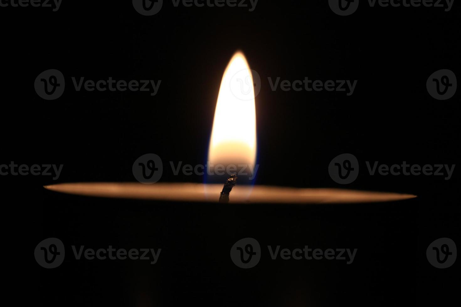 candle flame macro photo