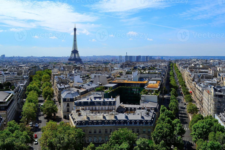View of Paris from the Arc de Triomphe photo