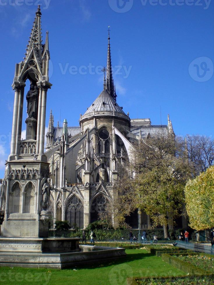 The Notre Dame cathedral of Paris, France photo