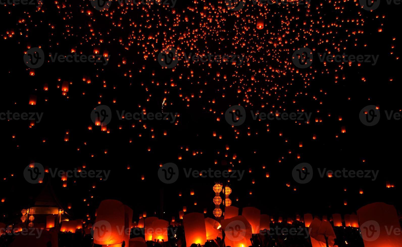 Yee peng, sky lantern photo